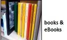 Logo mit Büchern und einem eReader