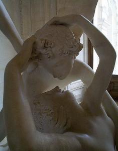 Amor und Psyche aus Marmor von Canova, Briefroman als Geschenk