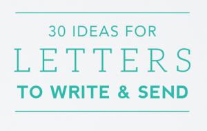 Briefe schreiben ist immer eine gute Idee