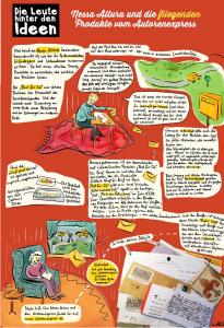 Ein Comic - gezeichnet von Nathalie Bromberger, der Nessa Altura portraitiert