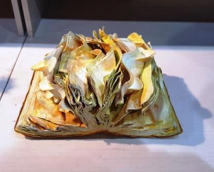 Das Buch als gecrashtes Kunstobjekt