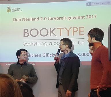 Der Preis für die beste Innovation ging an die Jungs von Booktype
