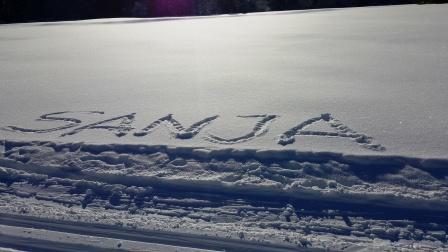 Wir grüßen herzlichst Sanja aus dem Schnee!