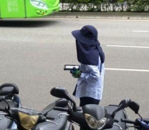 Gesichter Taiwans: Radfahrerin in Taipei