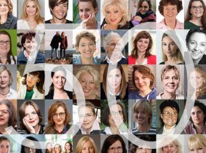25 Frauen, die die Welt verändern in kleinen Portraitfotos