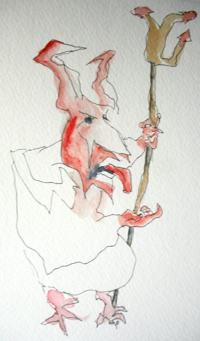 Zeichnung vom Teufel