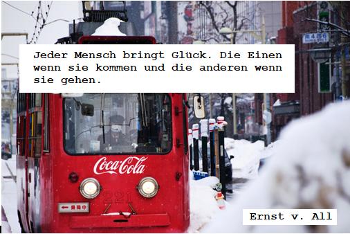 Wochenspruch: Straßenbahn im Schnee