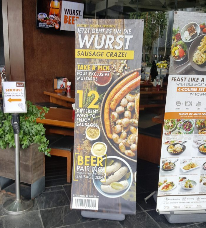 Wurst-Plakat