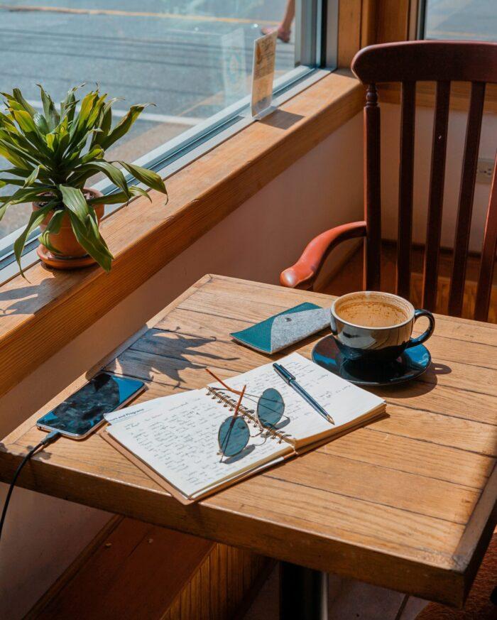 Home Office in der Sonne