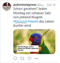 Unsere Montagspost 2020