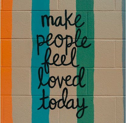 Wenn jemand krank ist…Poster: make people feel loved today