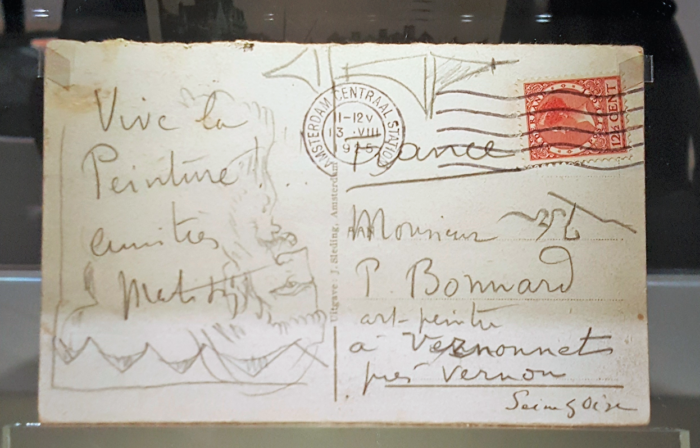 Bild einer handschriftlichen Postkarte
