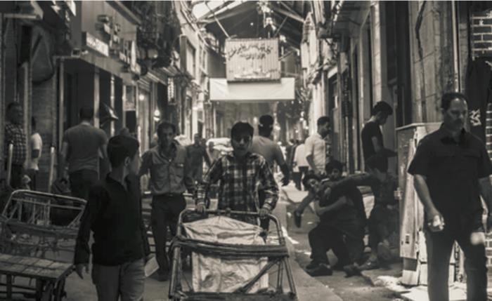 im Bazar von Konstatinopel