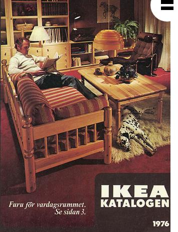wohnstube von 1976 aus dem Ikea katalog