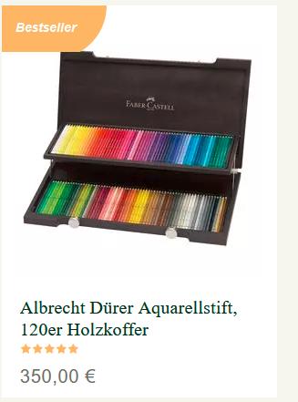 Produkt des Monats November 2020: wassservermalbare Buntstifte von Albrecht Dürer