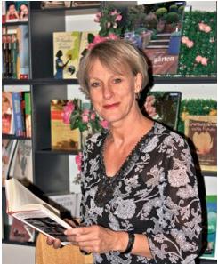 Die Chefin der Glockenbachbuchhandlung Petra Schulz